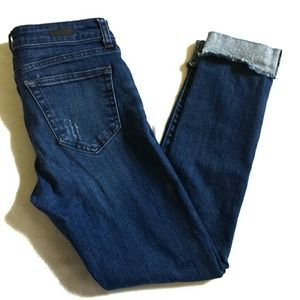 Distressed Raw Cut Crop Jeans Kut from the Kloth 2